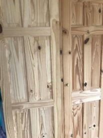 Internal Knotted Pine Doors 2ft wide - 8. Will sell as a lot or split