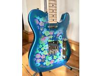2016 Fender Japan '69 Reissue' FSR Telecaster Guitar - Blue Flower