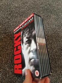 rocky boxset and 4 comedy dvds