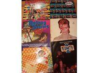 Rock vinyl records - rolling stones - david bowie albums