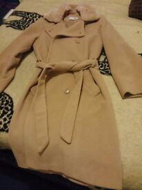 100% Camel Coat size 8-10 beautiful