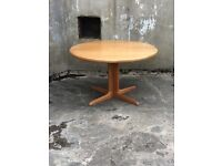 Danish Designed SKOVBY Oak Dining Table, Seats 6, from mid 1980's