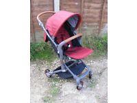 Red Lightweight Babysing I-GO Baby Stroller Pushchair Pram Foldable Kids Buggy