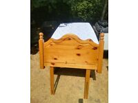 Single Bed - Antique Pine Style Headboard