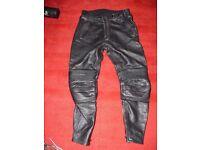 Richa leather biking trousers