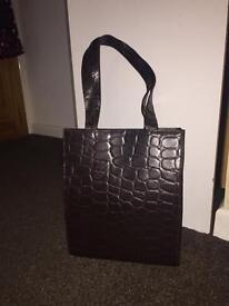 Faith Mock Croc Faux Leather Shoulder Tote Bag / Handbag