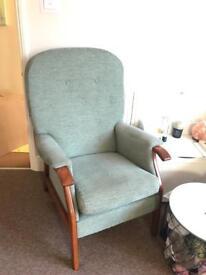 Comfy green armchair