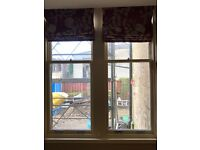 Three double glazed traditional sash and case windows (3 years old)