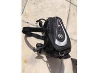 OXFORD X30 Tailpack Black Motorcycle Luggage Expandable Backpack