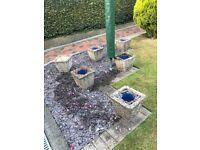 concrete planters/pots
