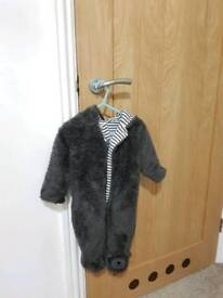 Baby all in one winter warmer 3 to 6 months