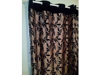 dunelm mill silk and black velvet ring top curtains rrp 60 pounds