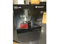 Hotpoint Multi Function Food Processor with 8 attachments Brand New In Unopened Box