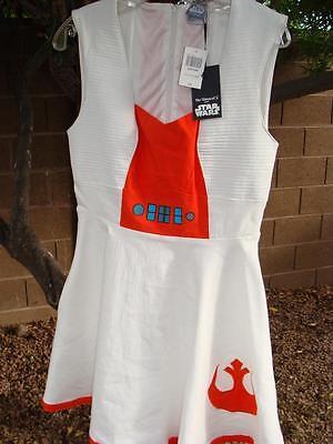 Rebel Alliance Costume (NWT STAR WARS REBEL ALLIANCE DRESS COSTUME SZ LARGE~STRETCHY)