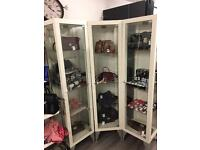 Glass display cabinets x4