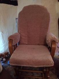 Nursing rocking chair & stool