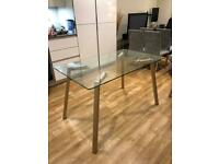 Contemporary Glass Dining or Study Table