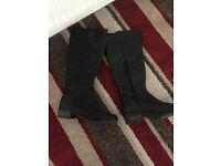 Excellent condition ladies black leather knee high boots from next