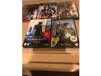 5 Action dvds in good condition