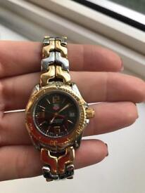 RARE TAG HEUER PROFESSIONAL Stainless Steel & Solid 18k Gold WT1453 Ladies