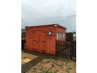 12x10 19mm log cabin, 9 months old £995 ono needs dismantled and picked up