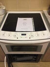 ZANUSSI ELECTRIC DOUBLE OVEN & GRILL CERAMIC HOB