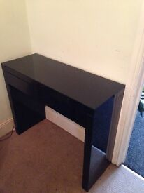 black gloss console/dressing table from Next
