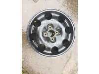 Peugeot alloy wheel, 205, 309, GTI, also fits Citroen and Ford