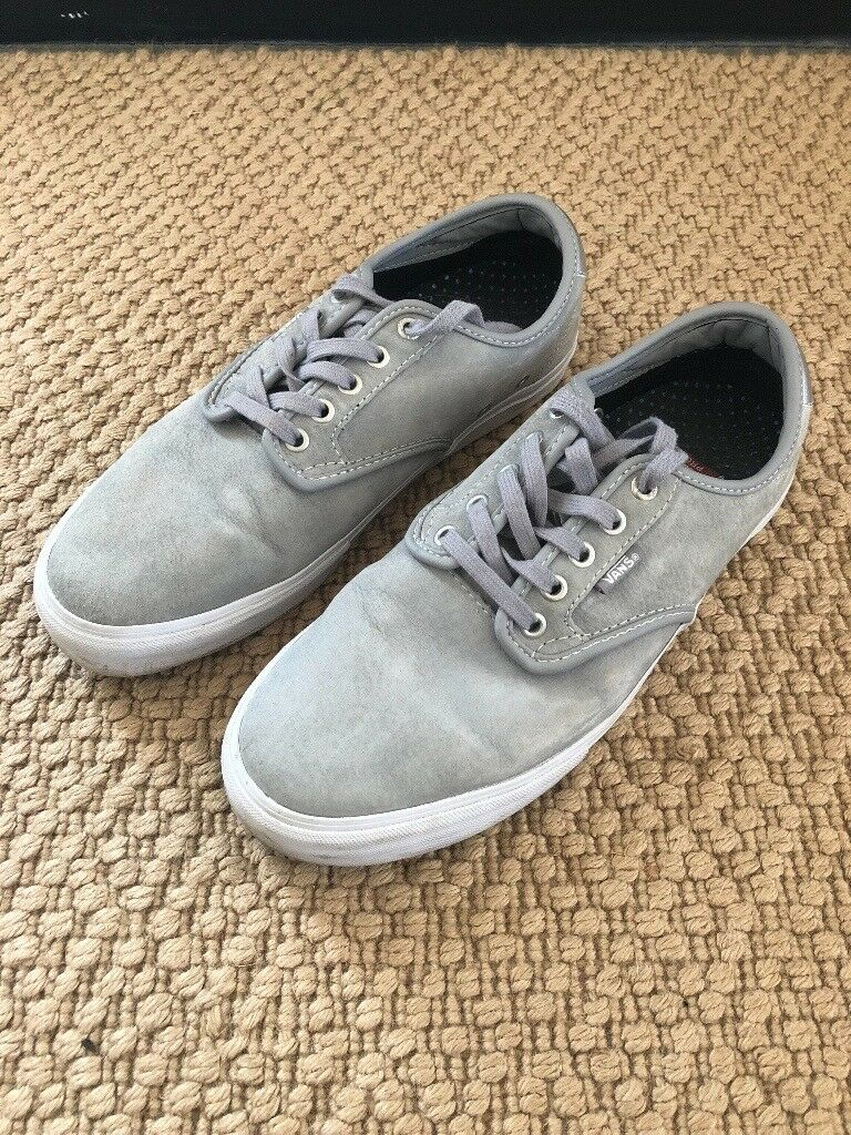 54ab9198f899 Vans Ultra Cush Lite Pro Grey Suede Skate Shoes UK 9 Genuine. Plymouth ...
