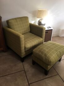 Custom made Chair and ottoman