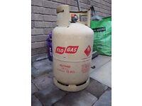 Butane gas bottle. Flo gas 13kg. 75% full.