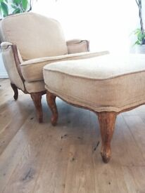 Stunning Armchair and Footstool