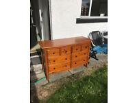 2x wooden chest of drawer