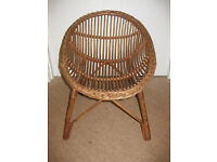 FABULOUS CHILDS WICKER CHAIR - great for any small child approx 1-7 years! BEAUTIFUL!
