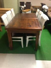 Walnut ext table £220