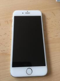 Apple iphone 6 64gb white silver on 02 giffgaff