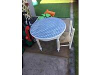 Lovely shabby chic table and child's chair