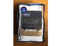 BRAND NEW SILENTNIGHT PURE COTTON KING SIZE MATTRESS PROTECTOR