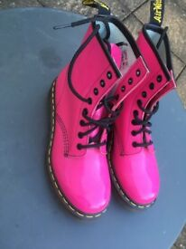Dr Martens Air Wair - Patent Pink Leather Size UK 5