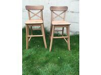 2 X Children's tall chairs from ikea