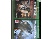 4 xbox one games, mint