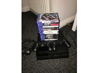 ps4 inc 16 games 2 controllers and headset