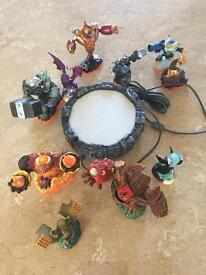 Mixed lot of skylanders and plug in base. Whole bundle for £10