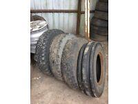 4 Tractor Tyres 750 x 16 part worn