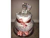 Personalised Nappy Cakes (Baby Shower/Gender Reveals)