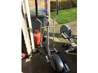 Life gear fitness cross trainer/stepper and Delta row master rowing machine