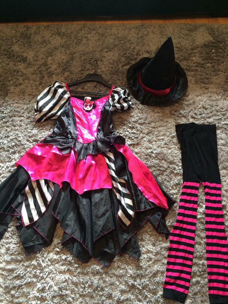 girls halloween 🎃 dress with hat and tights | in whitley bay, tyne