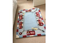 Fire engine rug