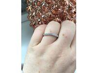 Ernest Jones white gold 15 point Diamond Ring