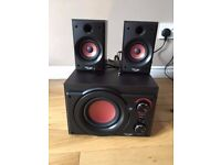 HIPOINT 2.1 STEREO SPEAKER SYSTEM BASS CONTROL